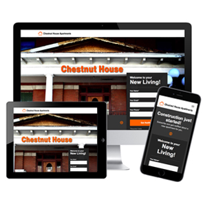 Chestnut House Apartments, JBK Website Design, Logo, Photography, Website