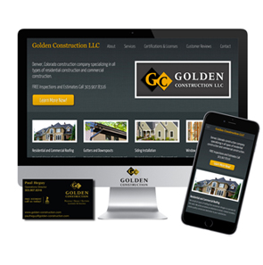 Golden Construction, JBK Website Design, Business Cards, Logo, Photography, Websites