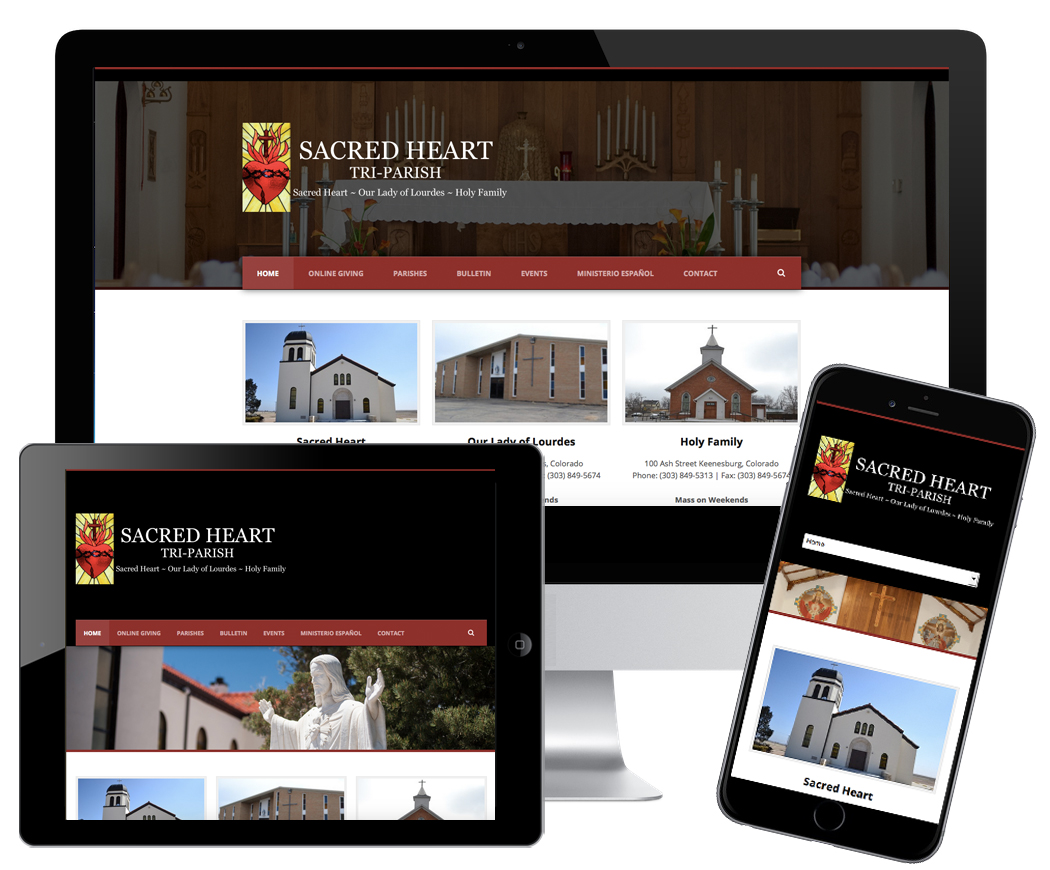 Sacred Heart Church, JBK Website Design, Logo, Photography, Website
