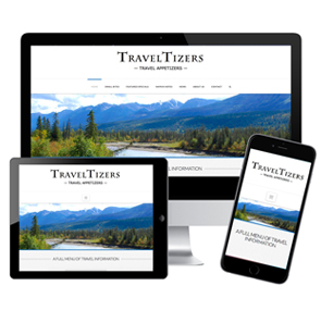 TravelTizers, JBK Website Design: Logo, Website Design, Website Development