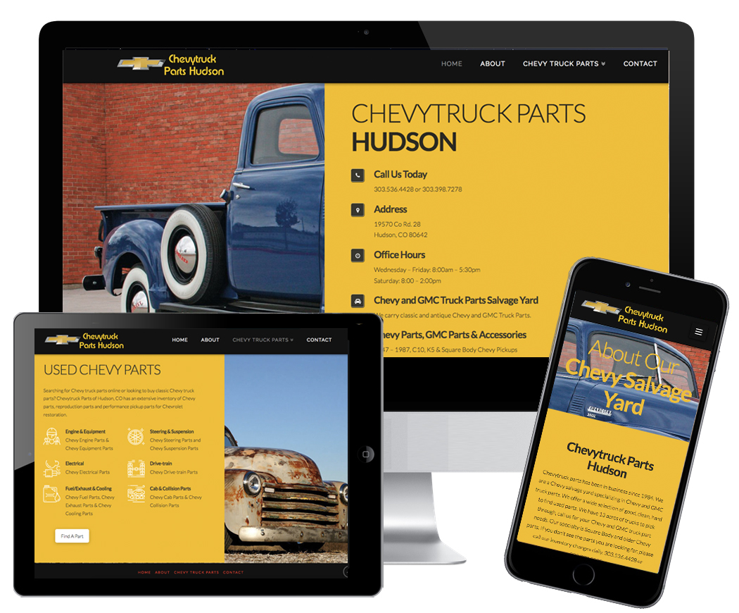 Chevytruck Parts Hudson Jbk Website Design